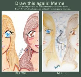 Before And After Deyna y Ariadne by ElberethStargazer