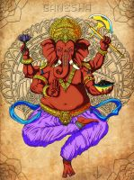 Ganesha - The Remover Of Obstacles by JohnBerryArtworks