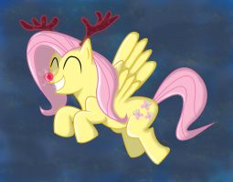 Fluttershy feeling the Christmas Spirit by HaRtBiTs