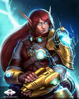 ...Commission: High Elf Technomage... by ShadowPriest