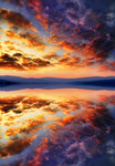 Sunset sky clouds water reflection 2 ~ STOCK by AStoKo