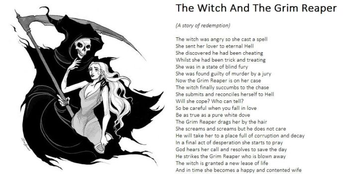 The Witch And The Grim Reaper by demonrobber