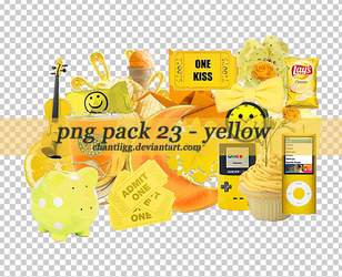 PNG PACK 23 - YELLOW by ChantiiGG