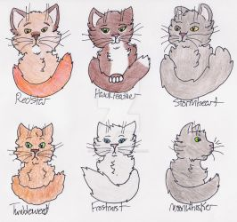 WindClan Warriors - P1 by Swiftstar01