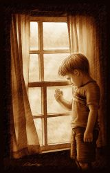 Lonely Boy_in sepia by Mr-Ripley
