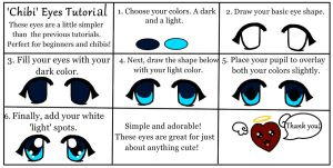 'Chibi' Eyes Tutorial by Queen-Of-Cute