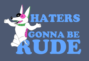 A Really Rude Dog by saffronpanther