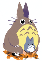 Totoro and Cat Bus by Pocketowl