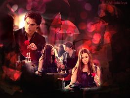 Damon and Elena by cat-at-the-window