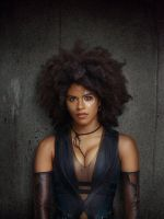 Closer Look at Zazie Beetz as Domino by Artlover67