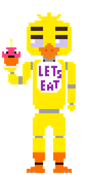 Chica Pixel Art - Animation by Creepygamertip