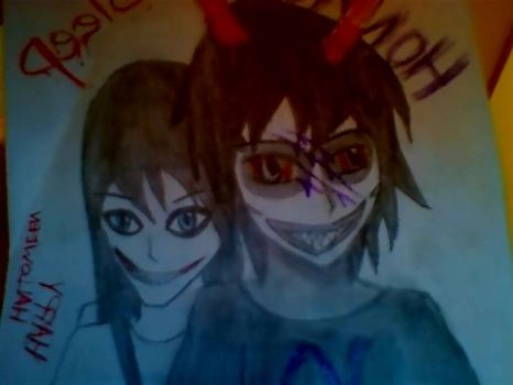 Gam And Jeff The Killer by MattieLee
