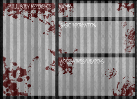REFERENCE TEMPLATE: Creepypasta OC Reference Base by InvaderIka