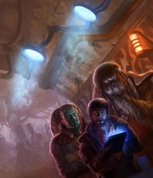 Orange Lady Cantina- Star Wars:Lords of Nal Hutta by jubjubjedi