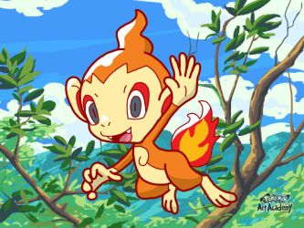 Pokemon Art Academy - Chimchar by GamerGyrl
