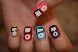 Ipod Nails by hellokitty1996