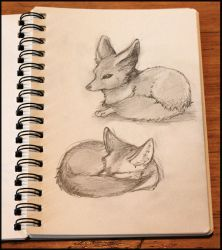 Late night sketching by Porkkish