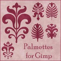 Palmettes Brushes for Gimp by Lucida