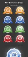 Badges and Stickers for webdesigners by Grafpedia