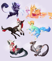 Doodles Batch I by Sapphu-Adopts
