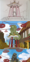 Chinatown WiP by Lubrian