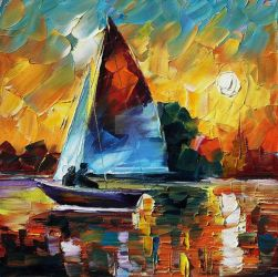 Sail Fast by Leonid Afremov by Leonidafremov