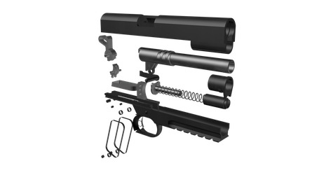 1911 wip exploded view by EverlastingAbyss