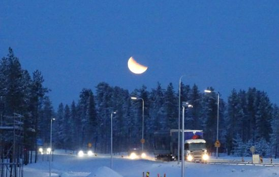 Moon watching over the traffic by HeidyRolland
