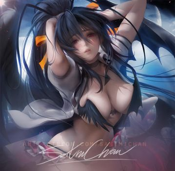 Akeno .nsfw preview. by sakimichan