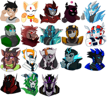 Chibi Bust Iron Artists! (32 slots left!) by strike-commandxr