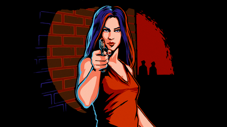 8-bit Adventure Anthology Steam Card - Lady in Red by Polymental69