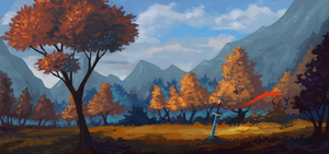 Landscape study 5 by Asimos