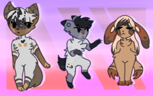 cheap Furry canine adoptables open by Aaaders