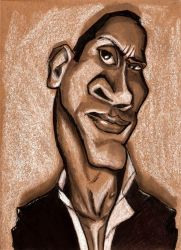 Dwayne Johnson Caricature by DoodleArtStudios