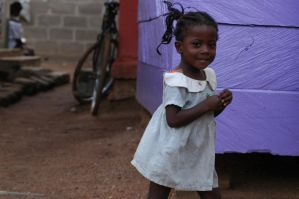 a little girl in africa by thecheeseitscold