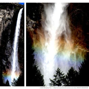 Rainbow Falls by yuumei