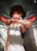 Princess Mononoke by Liang-Xing