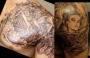 Geisha-Dragon First Session by ShannonRitchie