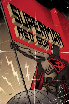 Superman RedSon Hardback cover by Devilpig