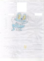 Froakie Colorized Sketch by Bluegodzill
