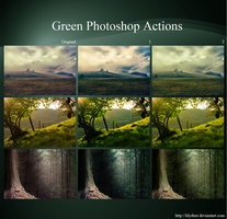 Green Photoshop Actions by lilydust