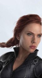 Avengers 4 Black Widow Hair Style Close Up by Artlover67