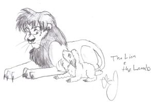 The Lion and the Lamb by HuntressGuya
