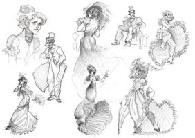 Bunch of Victorian Sketches by kyla79
