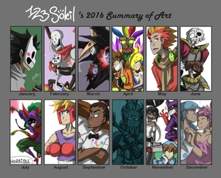2016 Summary of Art by 123soleil