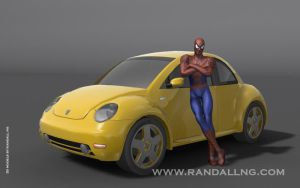 Bumblebee and Spidey by rando3d