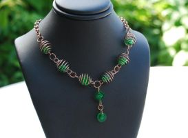 Lego Copper Coil Necklace by forteallegretto