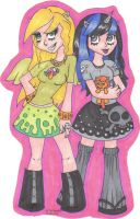 Trippy and DarklyCute with Peanut Bucker by JaclynTaargus