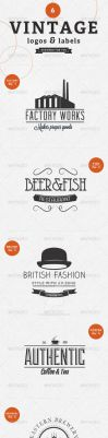 6 Vintage Labels Badges and Logos by frankschrijvers