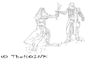 0217 - VS - Drow vs Swordfighter by TheHOINK
